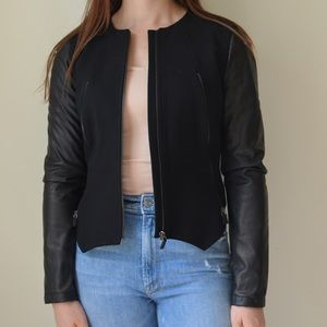 Trendy stylish vegan leather jacket made in Italy